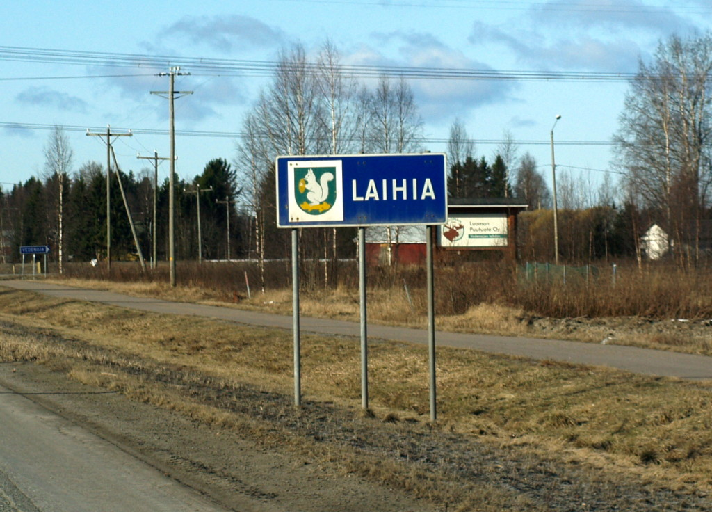 Laihia municipal border sign