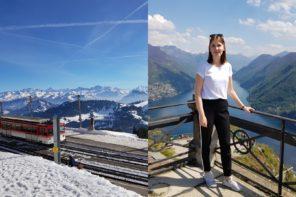 Kevät Sveitsin Vuoristomaisemissa